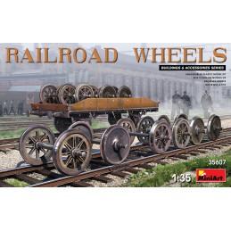 Miniart 1/35 Railroad Wheels