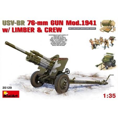 Miniart 1/35 USV-BR 76mm Gun Mod.1941 w/Limber &Crew