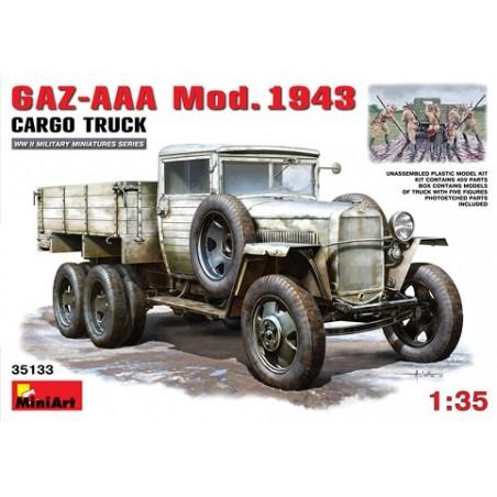Miniart 1/35 GAZ-AAA. Mod. 1943. Cargo Truck