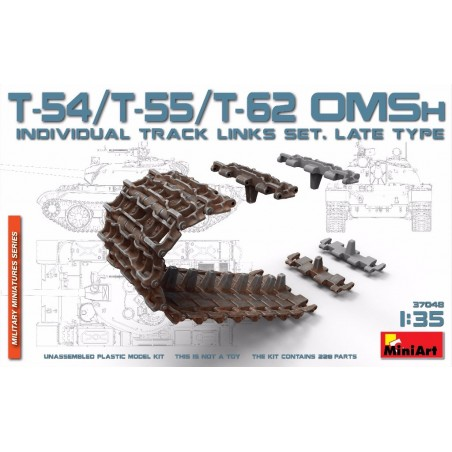 Miniart 1/35 T-54/T-55/T-62 OMSh Individual Track Links Set.late Type