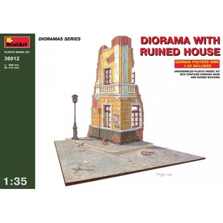 Miniart 1/35 Diorama with ruined corner house