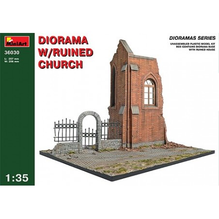 Miniart 1/35 Diorama with ruined Church