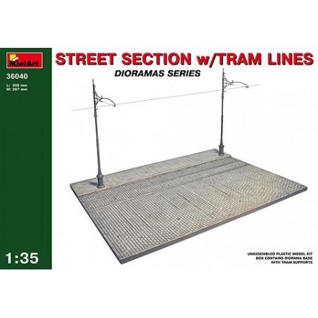 Miniart 1/35 Street Section w/Tram Line