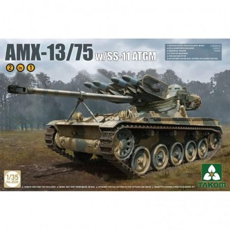 Takom 1/35 AMX-13/75 w/SS-11 ATGM FRENCH LIGHT TANK
