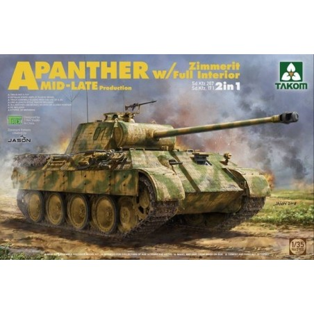 Takom 1/35 Panther Ausf.A mid/late full Interior, Zimmerit