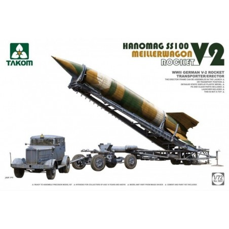 Takom 1/72 V-2 Rocket+ Meillerwagen+Hanomag SS100