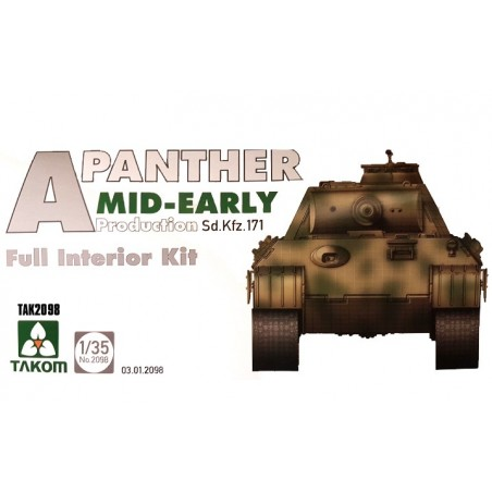 Takom 1/35 Panther Ausf.A mid- early prod. full Interior