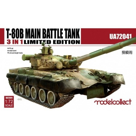 Modelcollect 1/72 T-80B Main Battle Tank Ultra Ver. 3 in 1, Limited