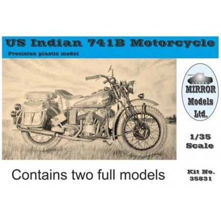 Mirror 1/35 US Indian 741B Motorcycle (2 kits in box)