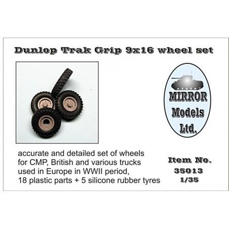 Mirror 1/35 Dunlop Trak Grip 9x16 wheel set