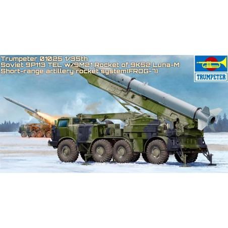 Trumpeter 1/35 Russian 9P113 TEL w/9M21 Rocket of 9K52 Luna-M Short-range artillery rocket