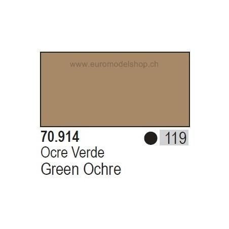 Vallejo Model Color 119 Green Ochre, 17 ml (914)