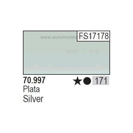 Vallejo Model Color 171 Silver, 17 ml (997)