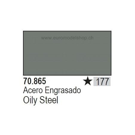 Vallejo Model Color 177 Oily Steel, 17 ml (865)