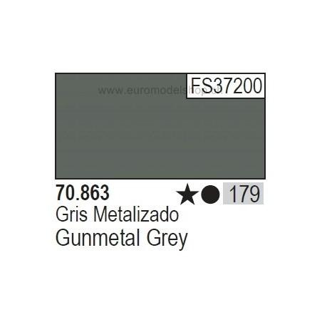 Vallejo Model Color 179 Gunmetal Grey, 17 ml (863)