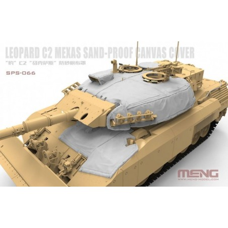 Meng 1/35 Canadian Main Battle Tank Leopard C2 MEXAS Sand-Proof Canvas Cover(Resin)