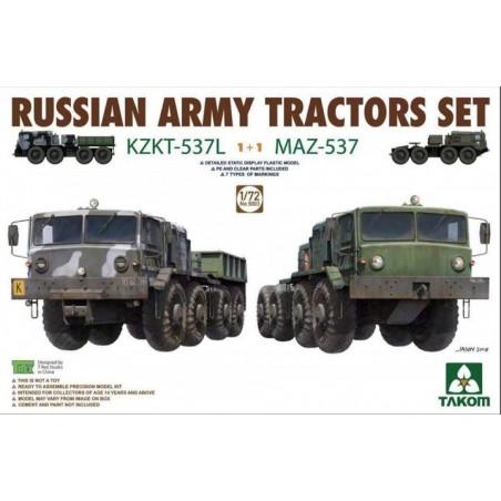 Takom 1/72 Russian Army Tractors KZKT-537L & MAZ-537 1+1