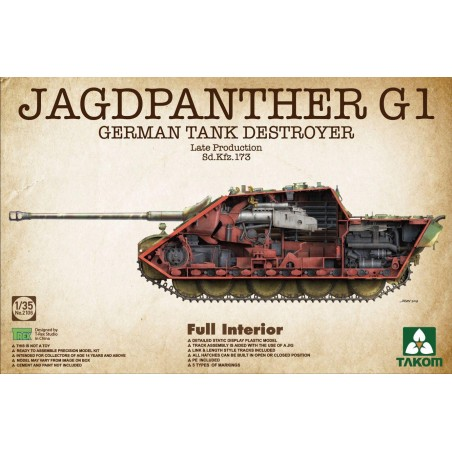 Takom 1/35 Jagdpanther G1 Late - full Interior