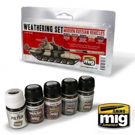 Ammo Mig - MODERN RUSSIAN VEHICLES WEATHERING SET
