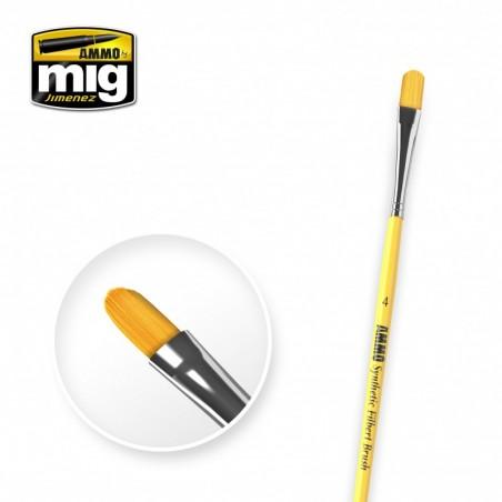 Ammo Mig - 4 Syntetic Filbert Brush