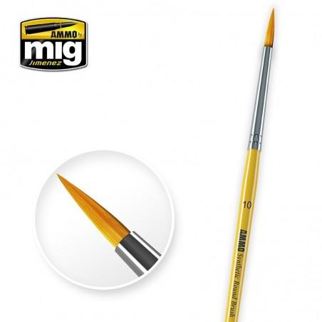 Ammo Mig - 10 Syntetic Round Brush