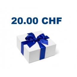 Bon cadeau de 20CHF